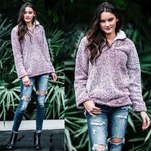 Sweaters - FINLEY Sherpa Pullover Sweater